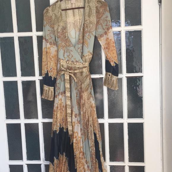 H & M printed wrap dress